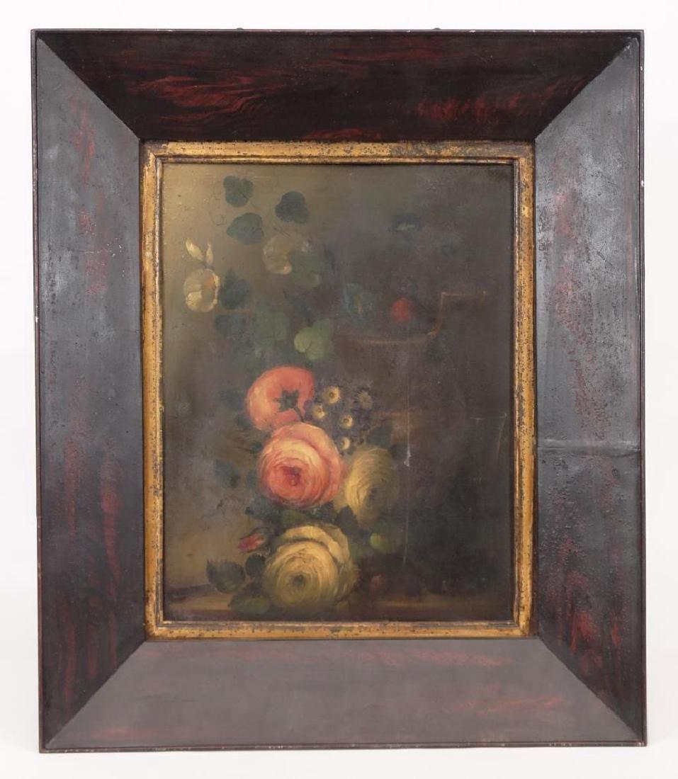 19th c. Painting On Tin