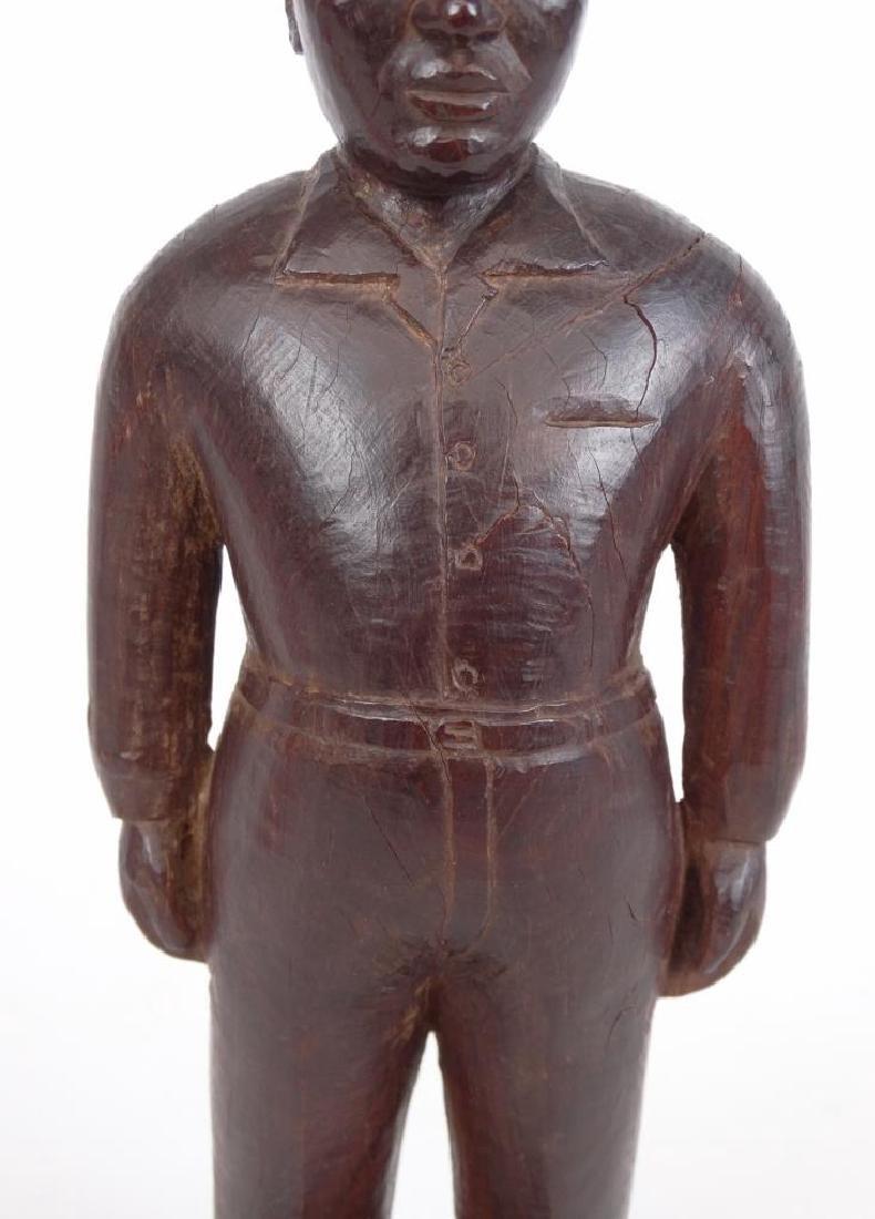 Folk Art Carved Figure - 3