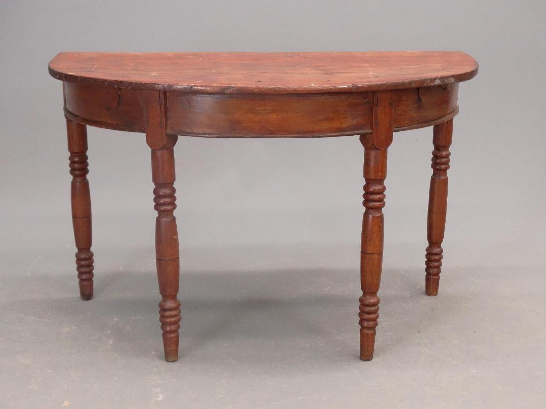 19th c. Demilune Table