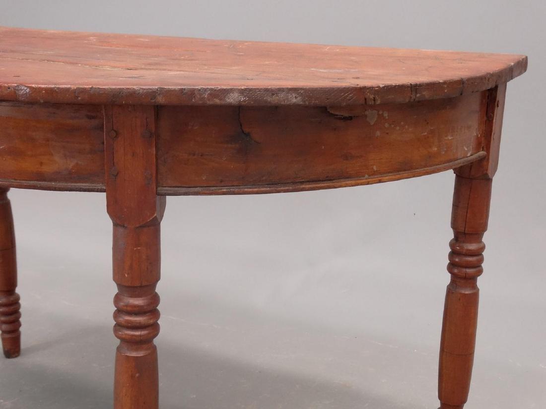 19th c. Demilune Table - 3