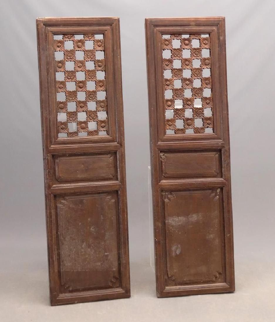 Pair Carved Wooden Panels