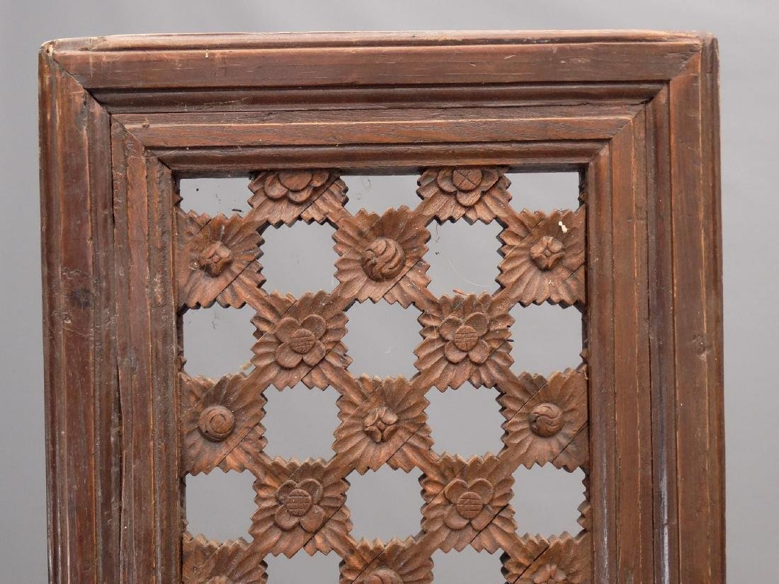 Pair Carved Wooden Panels - 2