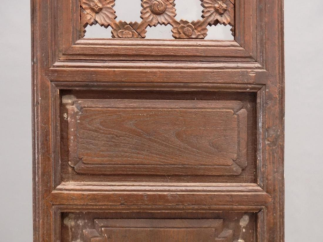 Pair Carved Wooden Panels - 3