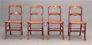Set 4 19th c Chairs