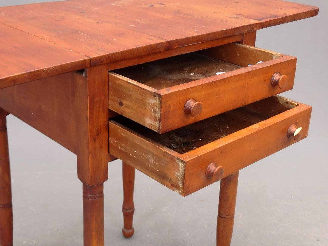 19th c. Two Drawer Stand - 4