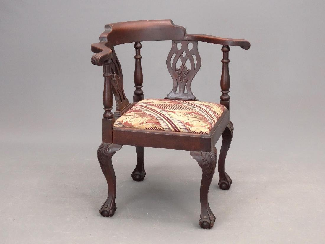 C. 1900's Mahogany Corner Chair