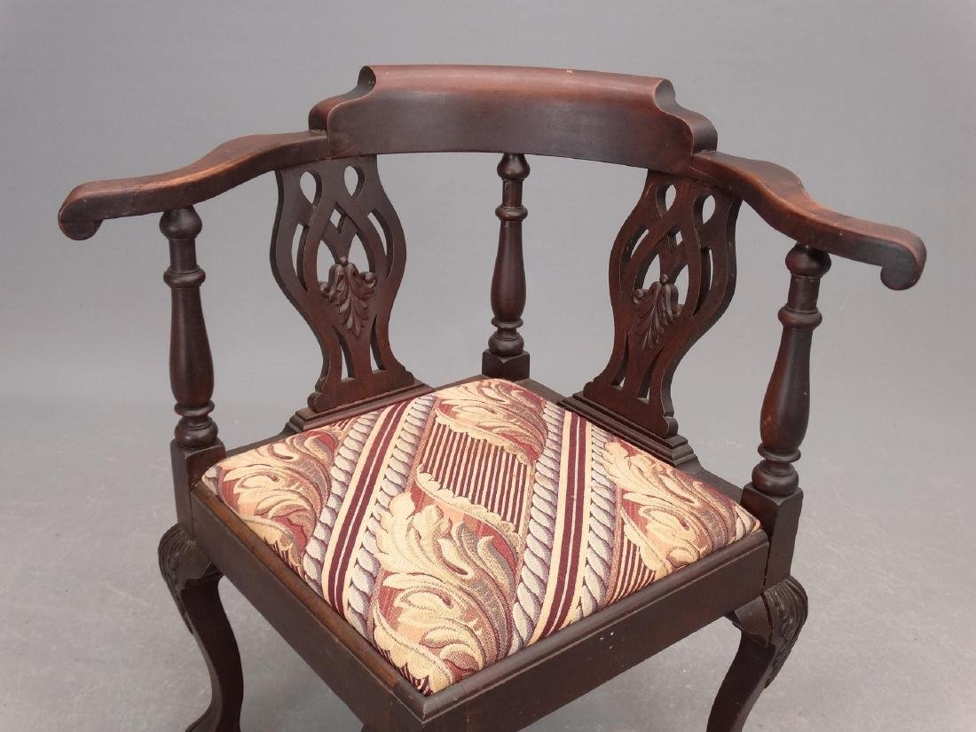 C. 1900's Mahogany Corner Chair - 2