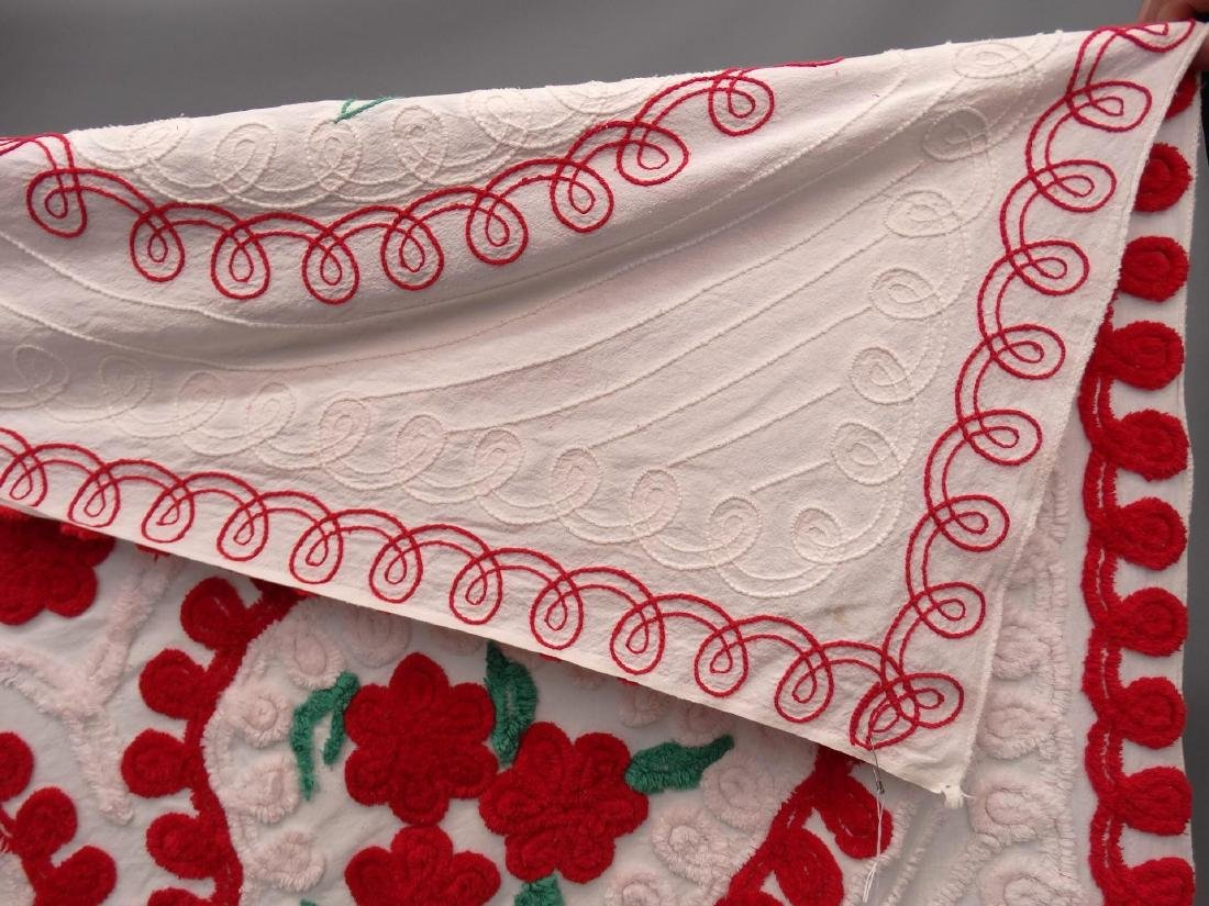 Vintage Chenille Bedspread - 4