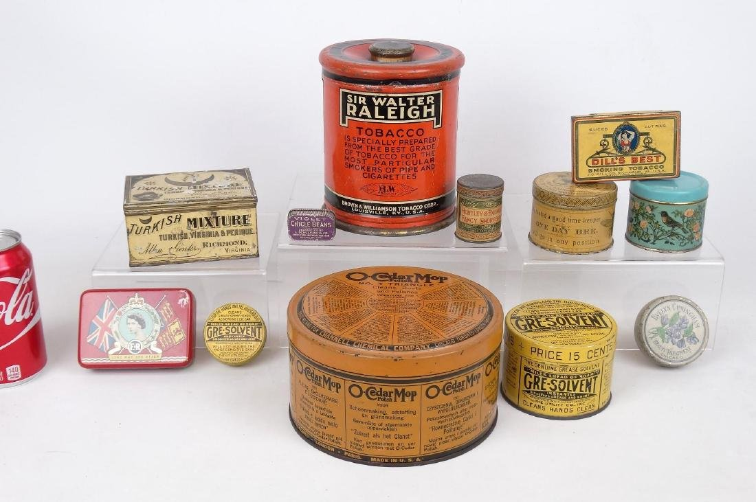Lot Of Advertising Tins