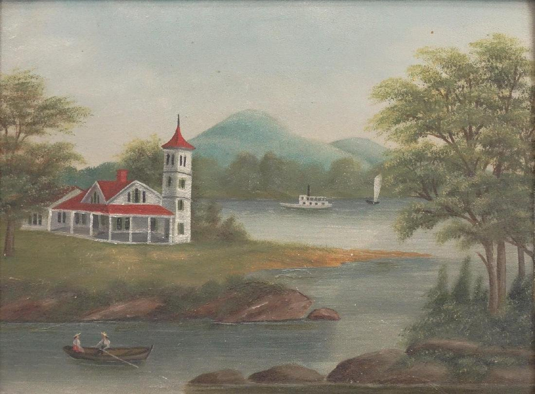 American School, 19th c. Riverscape - 2