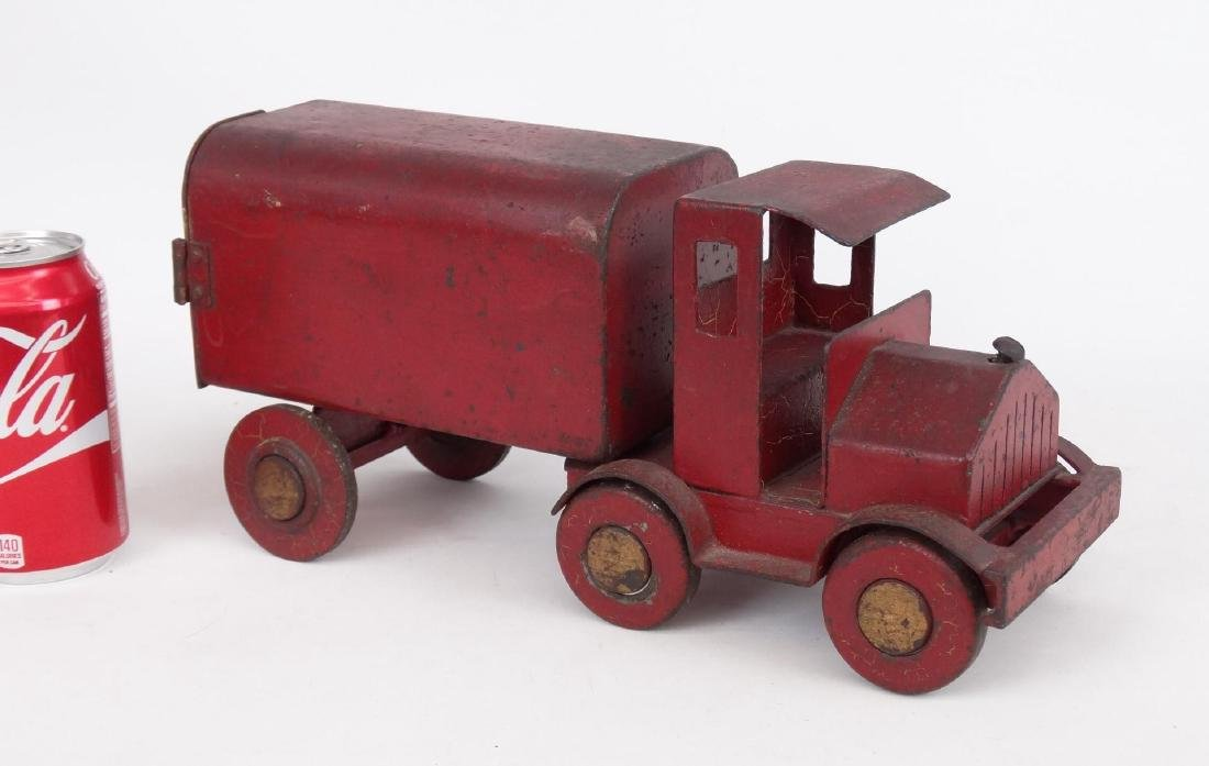 Early Pressed Steel Toy Truck