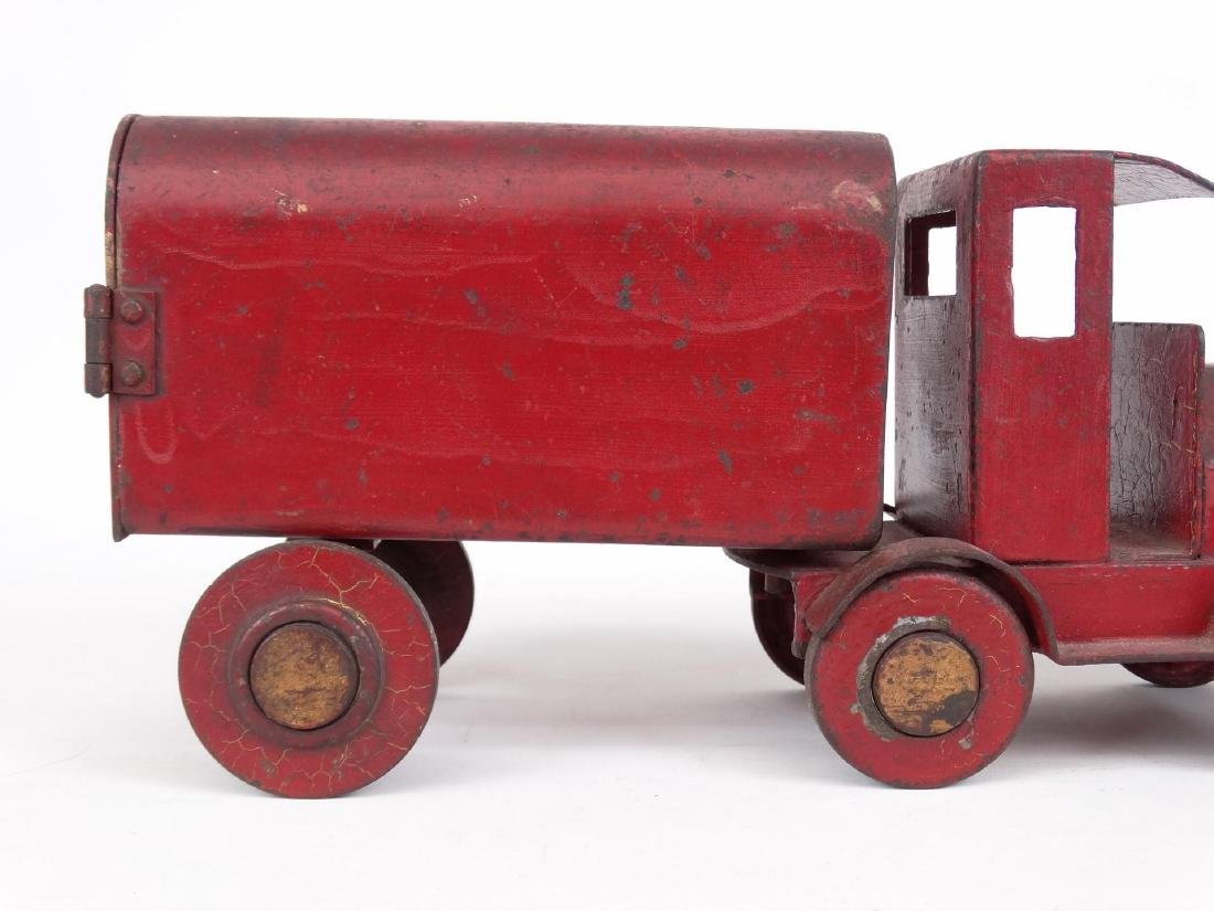 Early Pressed Steel Toy Truck - 3