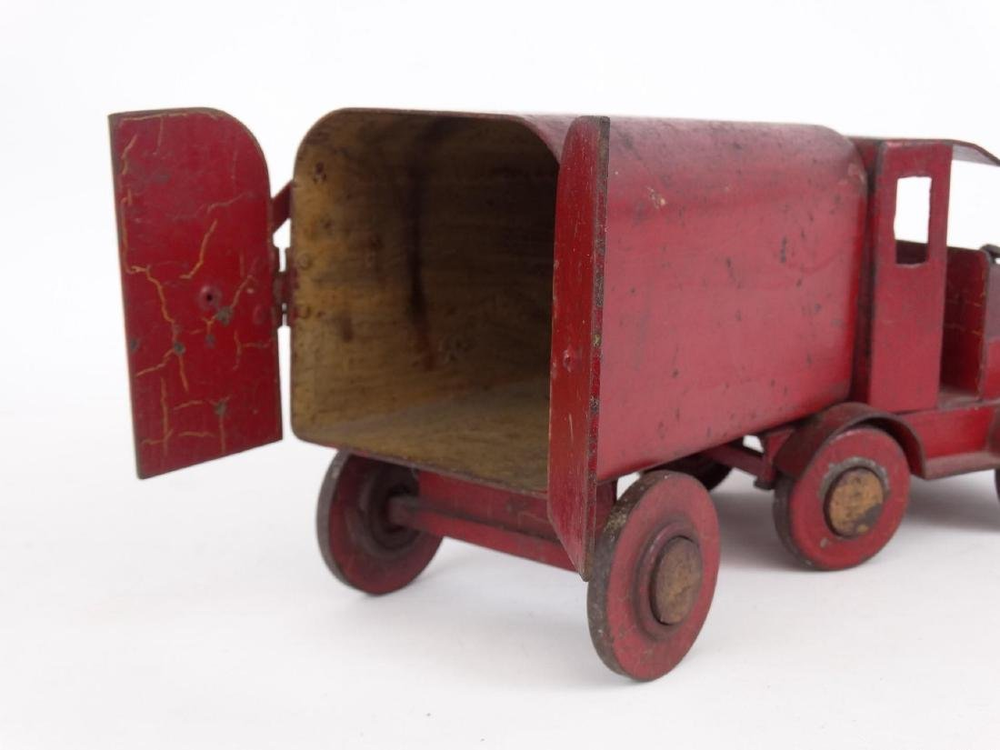 Early Pressed Steel Toy Truck - 4