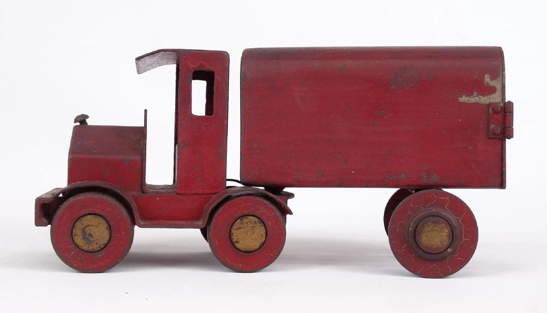 Early Pressed Steel Toy Truck - 5