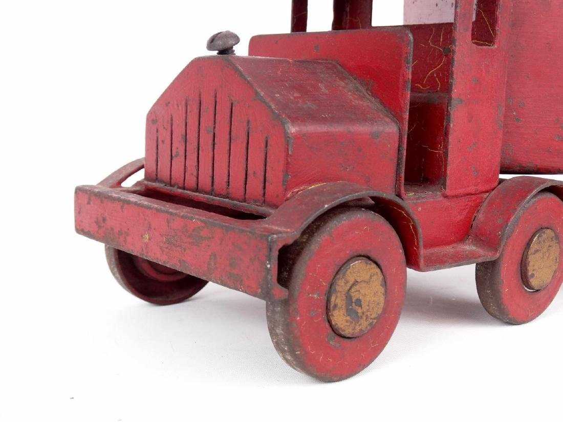 Early Pressed Steel Toy Truck - 6