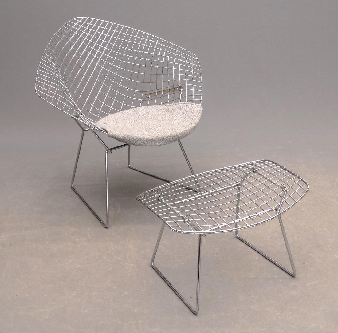 Bertoia Style Chair & Ottoman