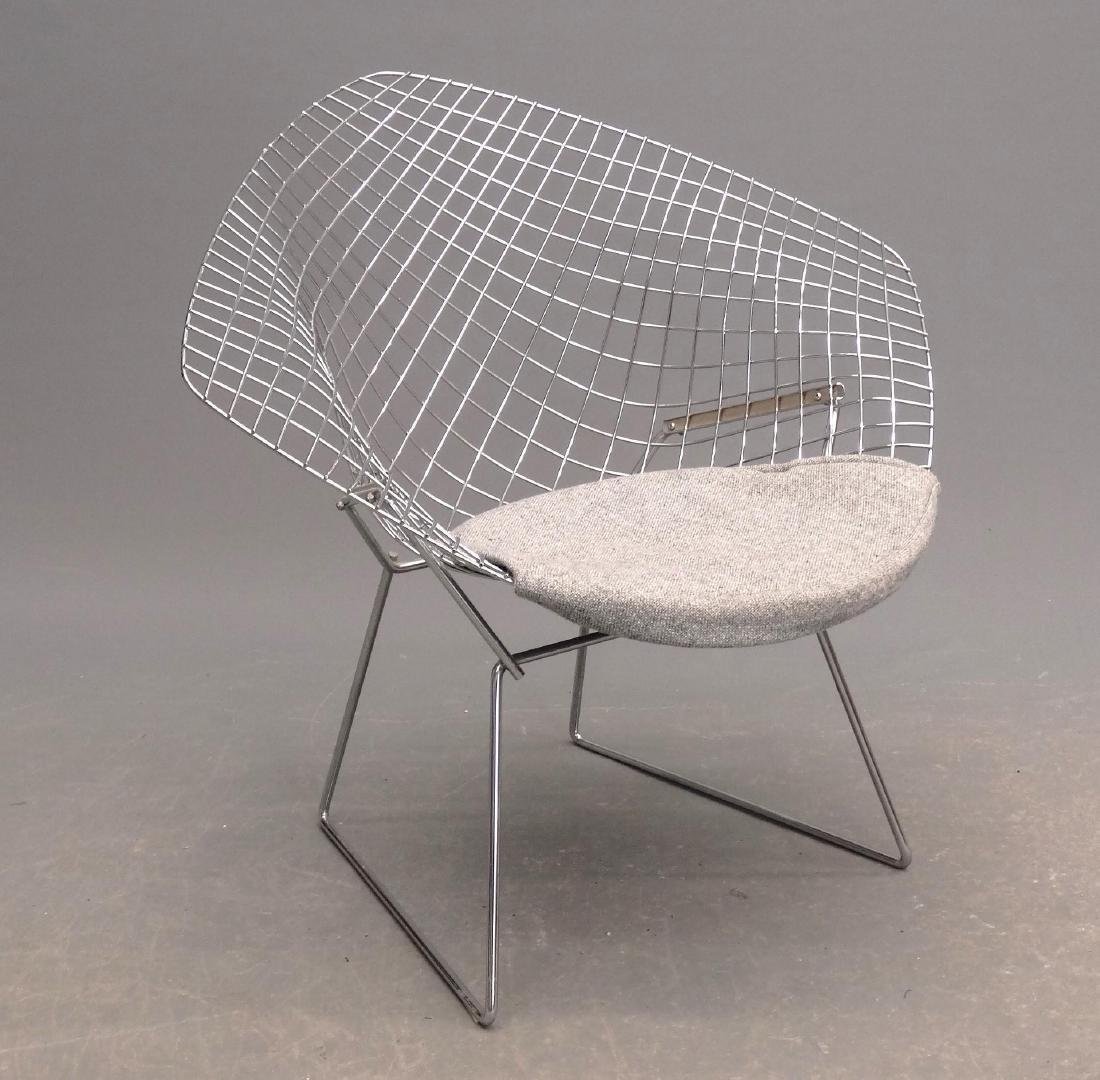 Bertoia Style Chair & Ottoman - 2