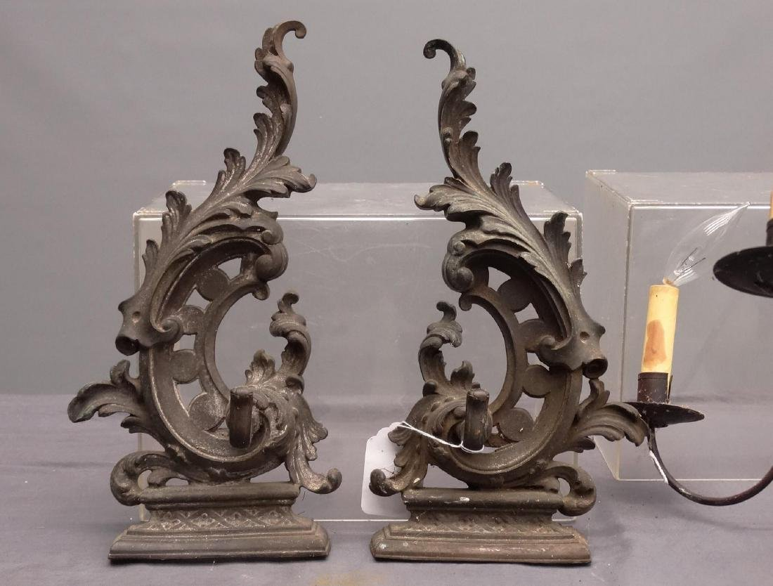 Pair 19th c. Steeple Top Andirons - 4