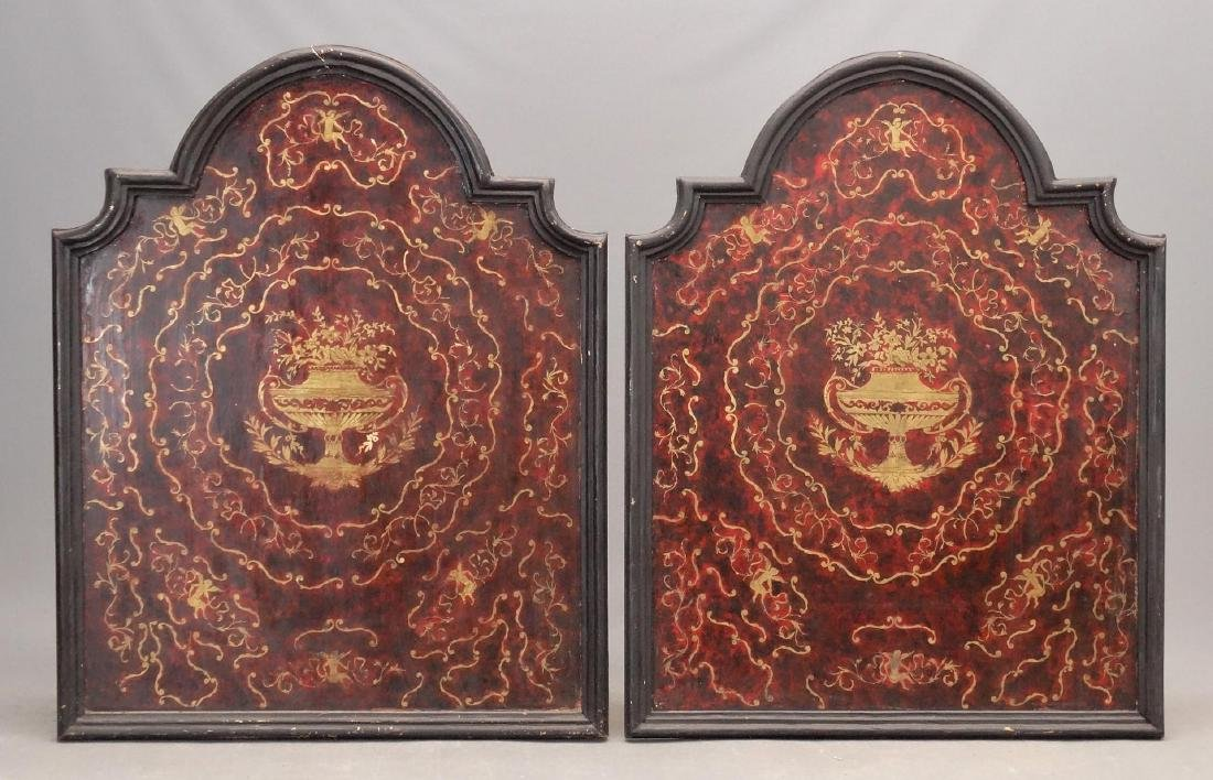 Pair Boulle Style Panels