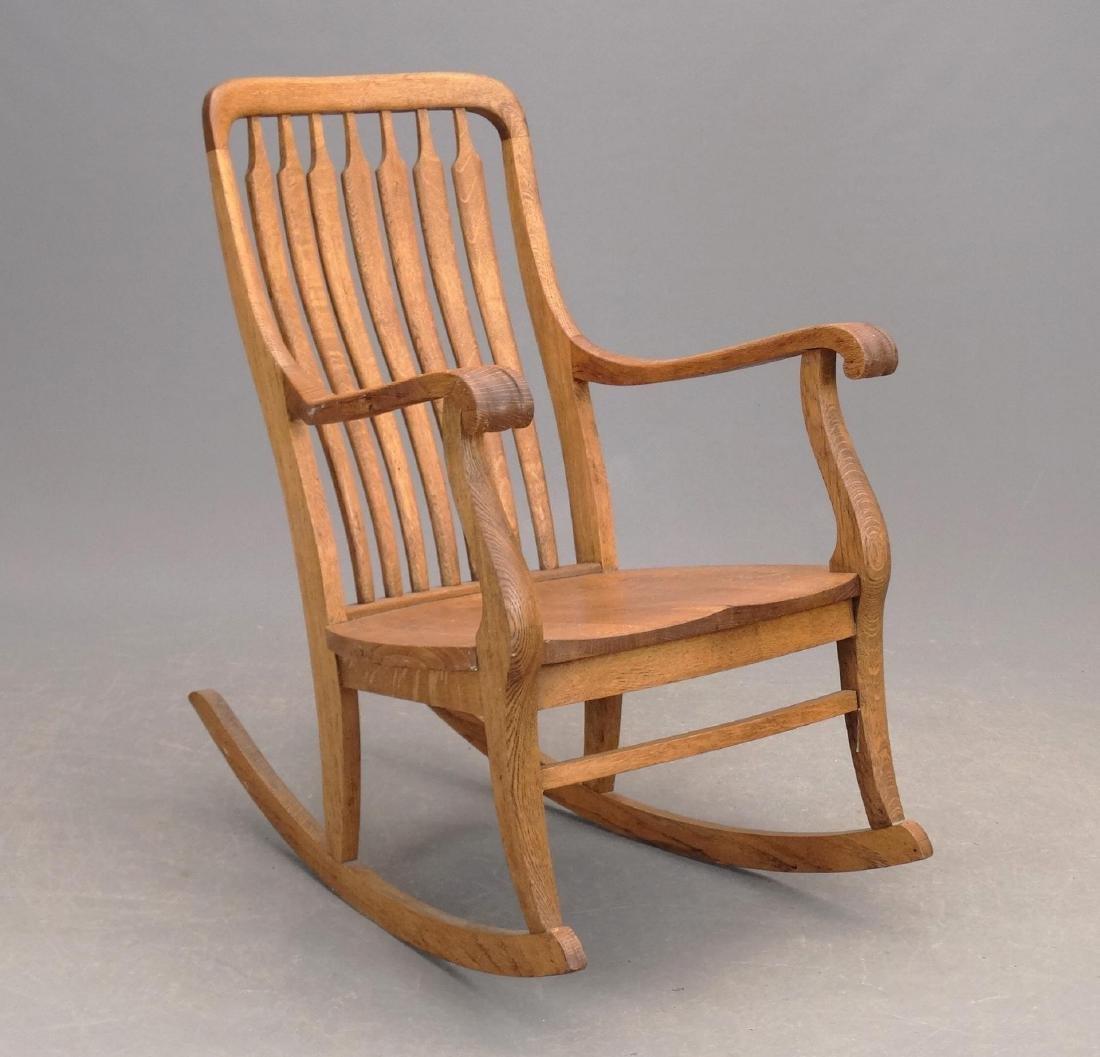 C. 1900 Oak Rocking Chair