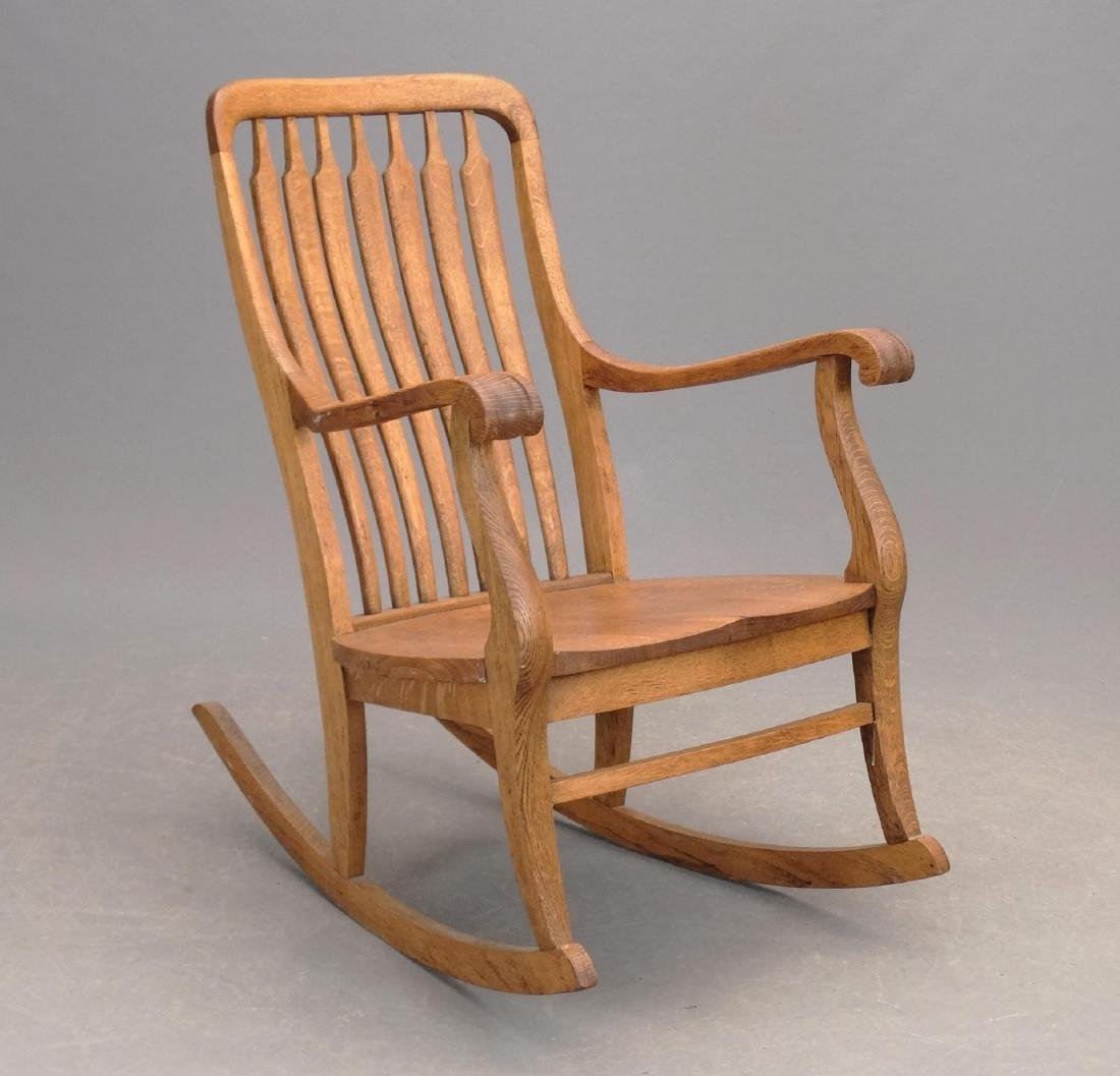 C. 1900 Oak Rocking Chair