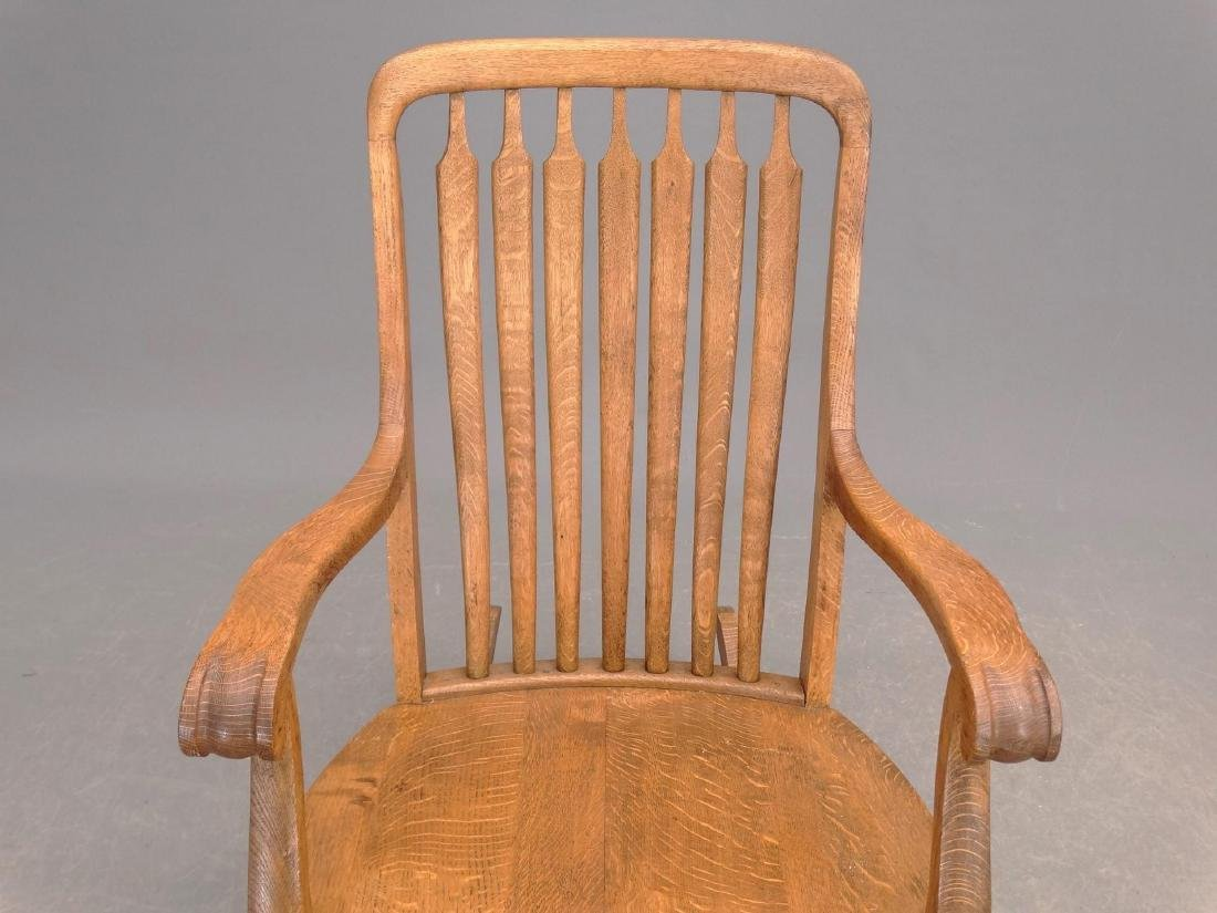 C. 1900 Oak Rocking Chair - 2