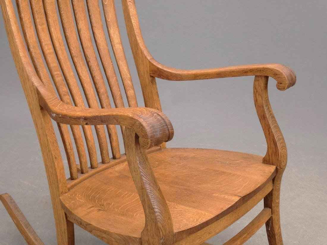 C. 1900 Oak Rocking Chair - 3