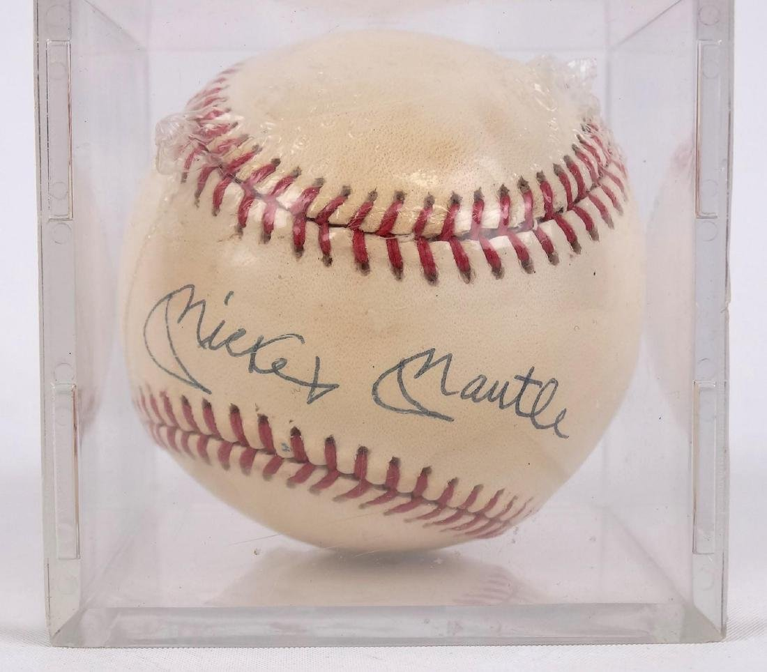 Mickey Mantle Autographed Baseball - 2