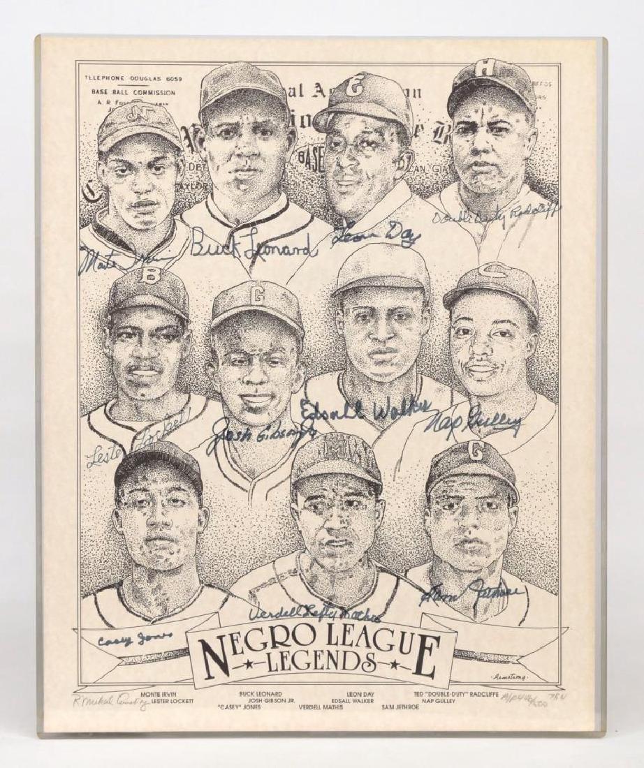 Negro League Autographed Print