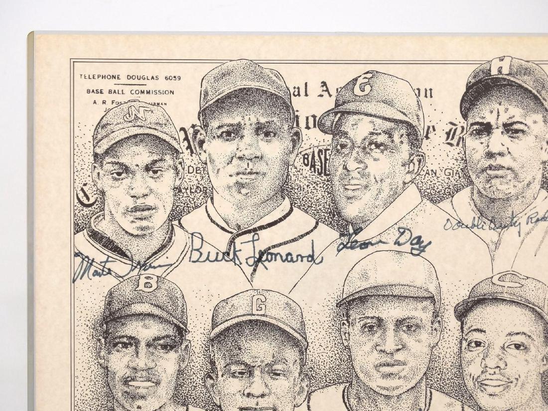 Negro League Autographed Print - 2