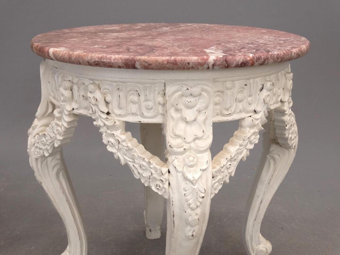 Pair Marble Top Stands - 3