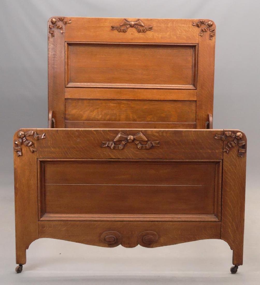 Victorian Oak Bed