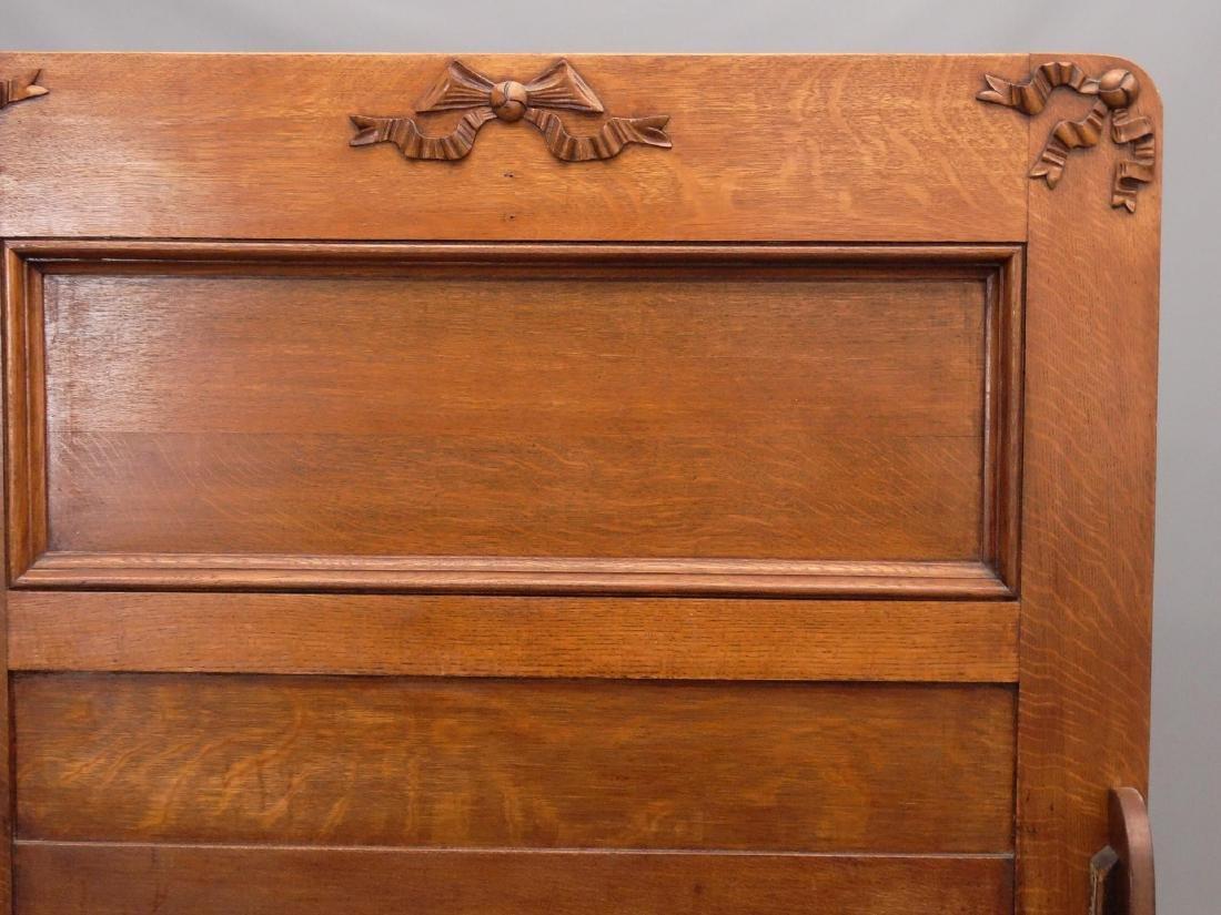 Victorian Oak Bed - 2