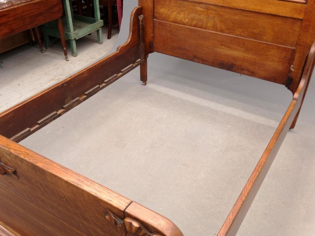 Victorian Oak Bed - 3