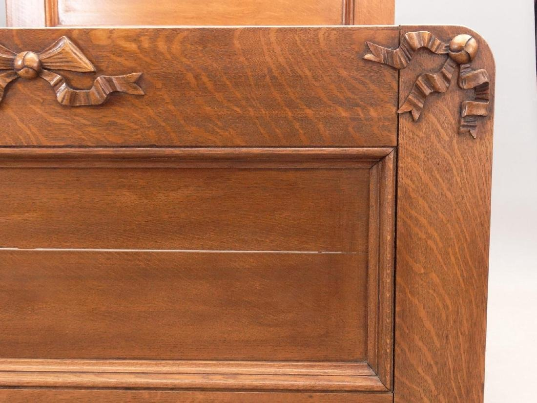 Victorian Oak Bed - 4