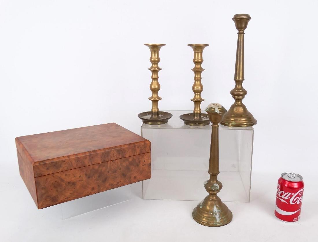 Candlestick & Humidor Lot