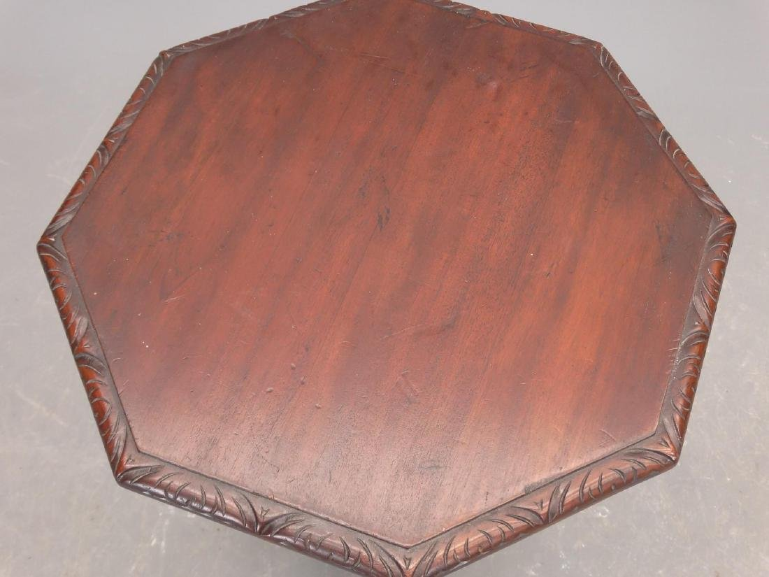 Carved Mahogany Lamp Table - 2