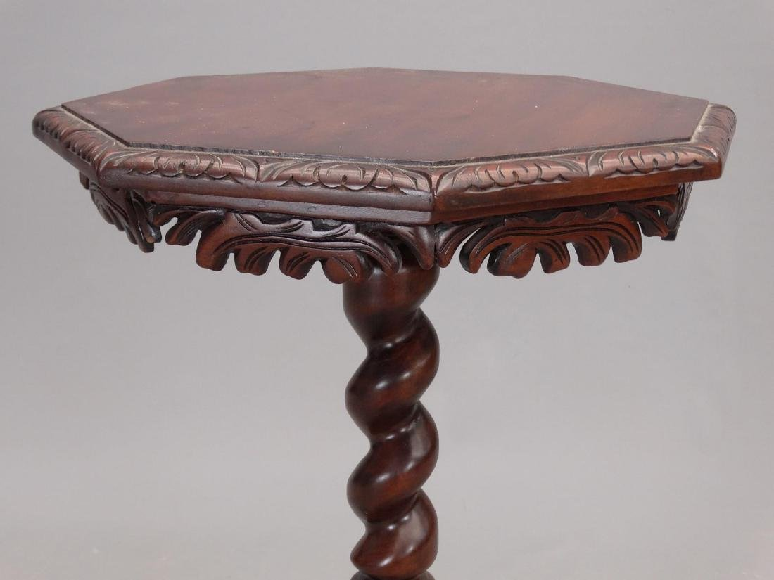 Carved Mahogany Lamp Table - 3