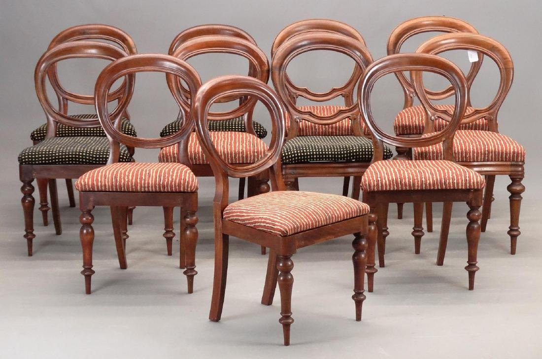 Set Of (11) 19th c. Victorian Side Chairs