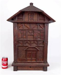 19th c. Architectural Hanging Cupboard