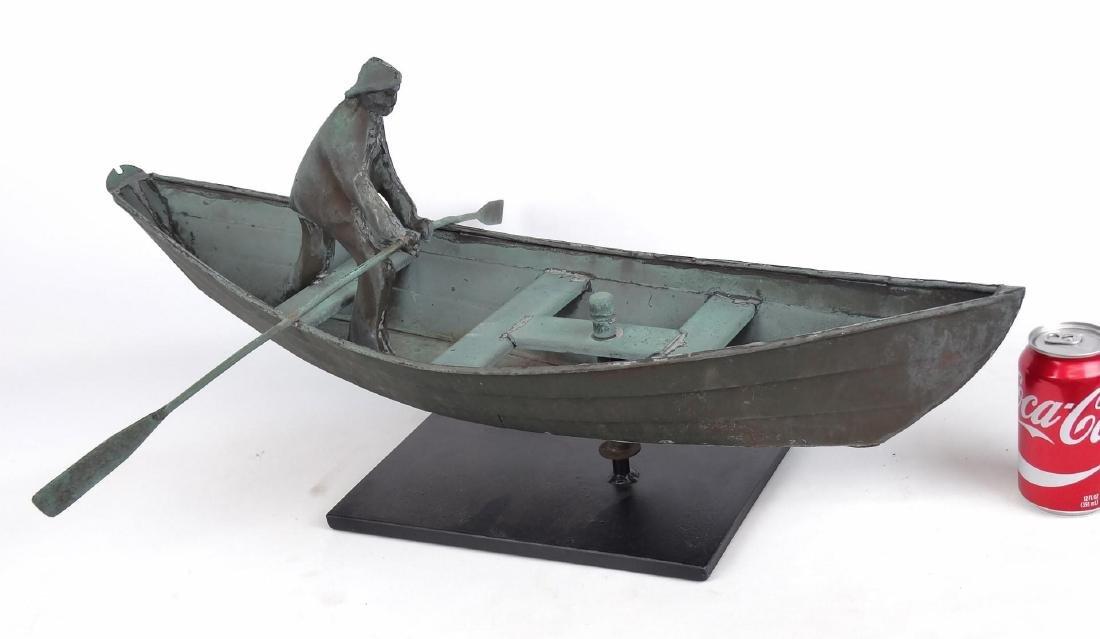 Fisherman In Dory Weathervane