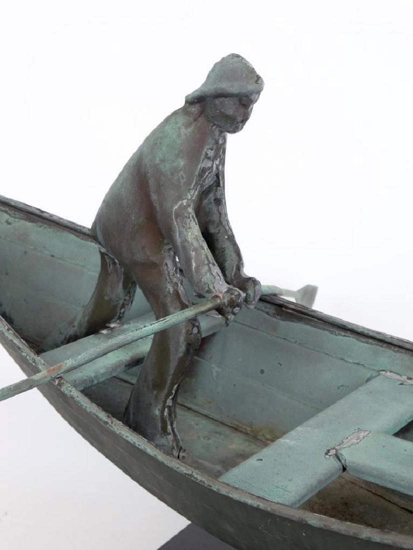 Fisherman In Dory Weathervane - 2