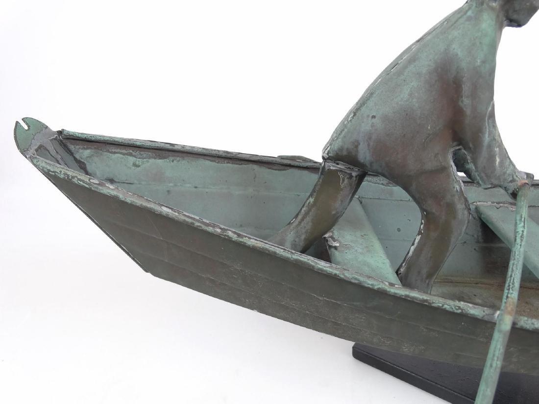 Fisherman In Dory Weathervane - 7