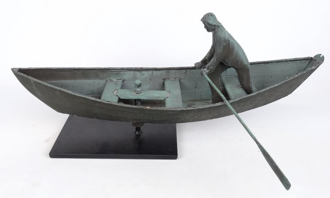 Fisherman In Dory Weathervane - 8
