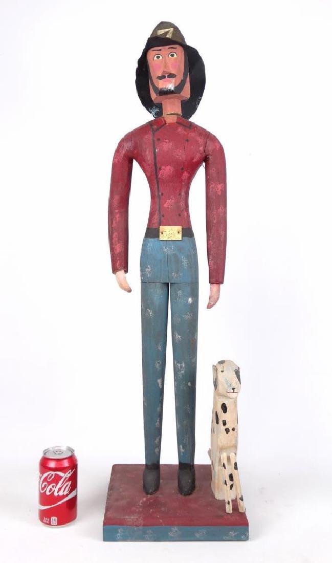 Folk Art Fireman & Dog