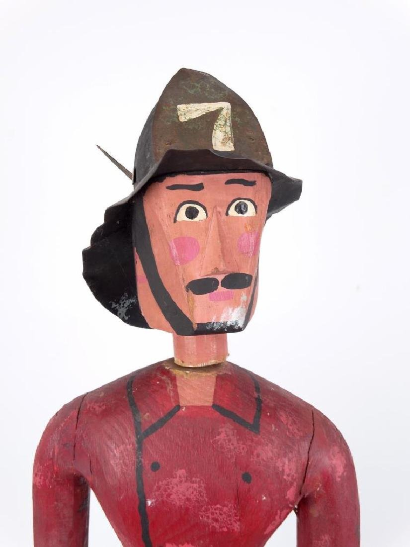Folk Art Fireman & Dog - 2