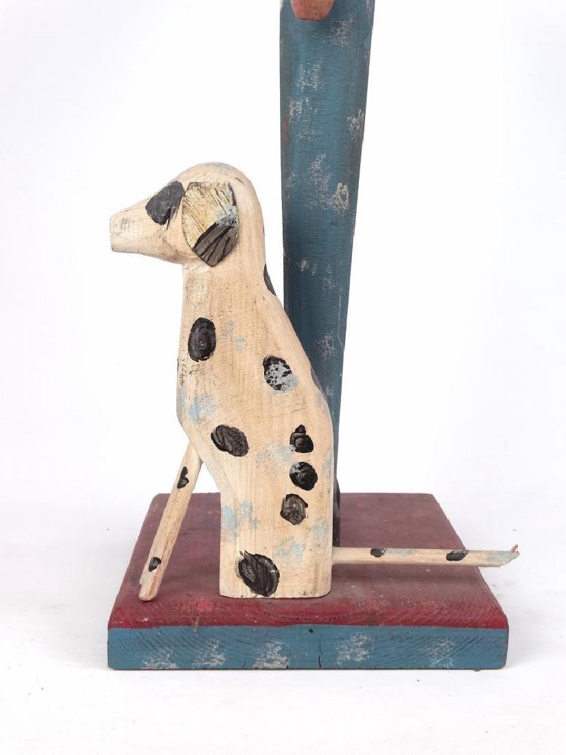 Folk Art Fireman & Dog - 4