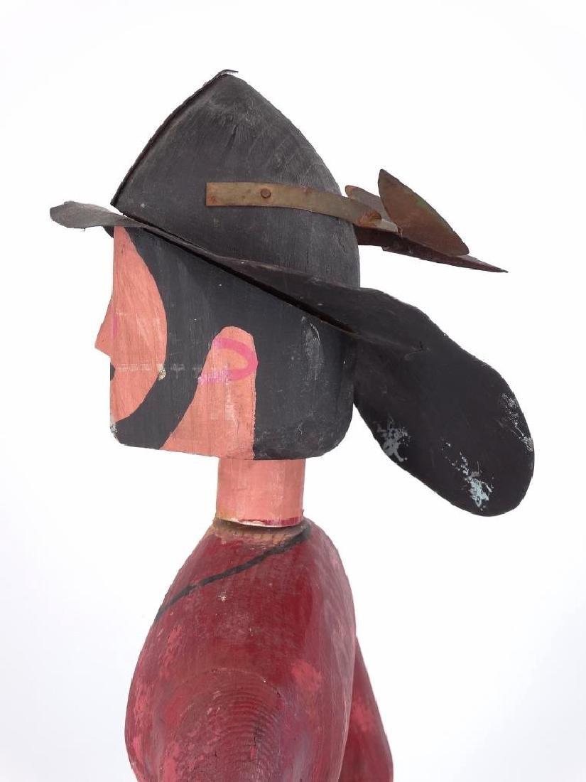 Folk Art Fireman & Dog - 5
