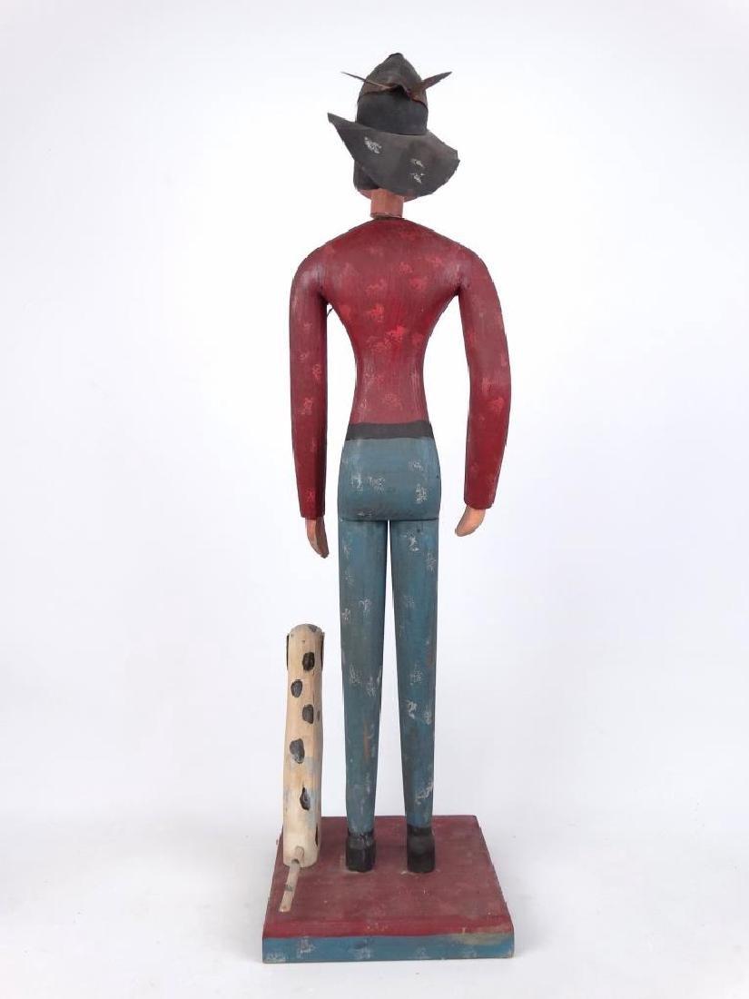 Folk Art Fireman & Dog - 7
