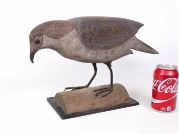 19th c. Carved Folk Art Falcon